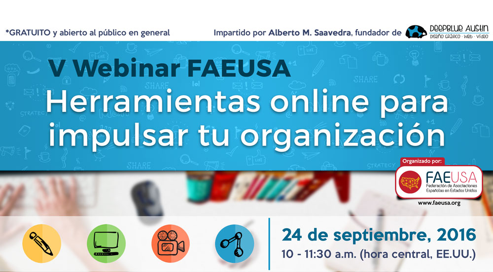V Webinar FAEUSA – Herramientas online para impulsar tu organización