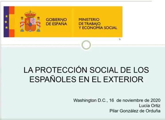 Webinario ofrecido por la Consejería de Trabajo, Migraciones y Seguridad Social